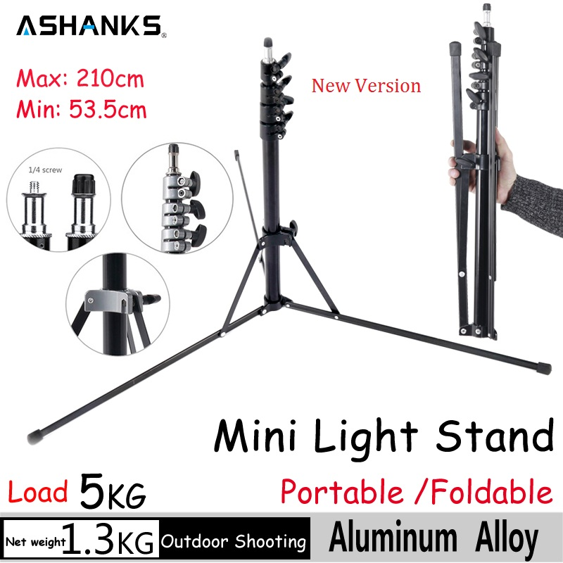 ASHANKS Mini Light Stand Tripod 2 1m 6 8FT Bracket Holder Fotografia Acessories Camera for Softbox