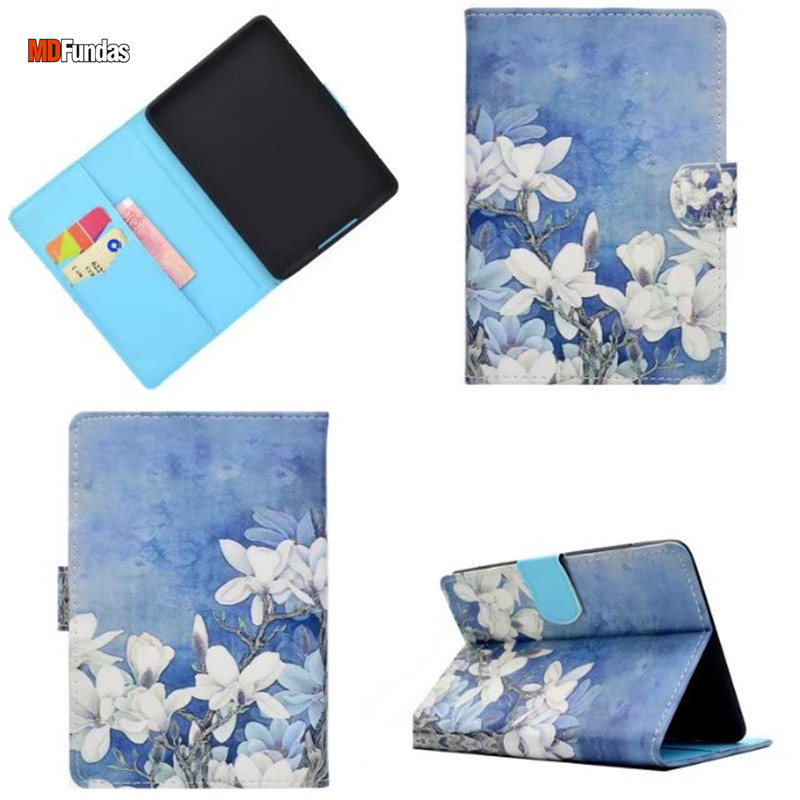 MDFUNDAS Flower Animal Pattern Cover For Amazon Kindle Paperwhite 1 2 3 Case Flip Stand Leather Shell For Kindle Paperwhite 3 kindle paperwhite 1 2 3 case e book cover tpu rear shell pu leather smart case for amazon kindle paperwhite 3 cover 6 stylus