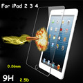 For iPad 2 3 4 9H Hardness Real Tempered Glass Screen Protector for Apple ipad  2 3 4 vidro With Package