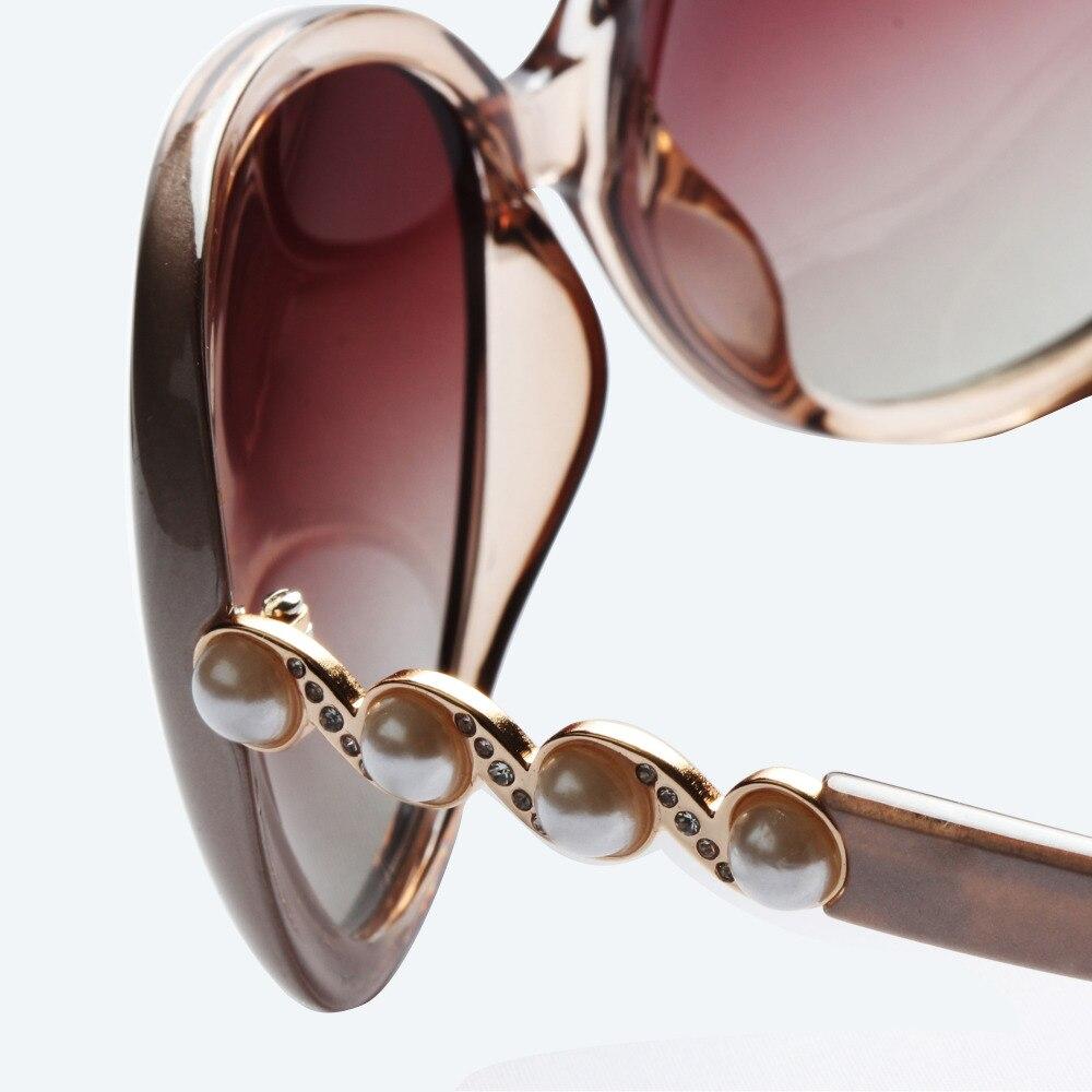 Liansan Polarisierte Perle Bein Übergroßen Fahren Retro champagne Marke brown Frauen Designer Oval Mode black Luxus Vintage Sonnenbrille Weiblich Purple Lsp580 FnFBAgR