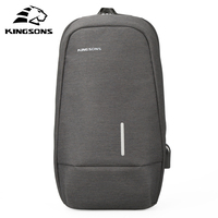 Kingsons Chest Bag Men Luxury Designer High Quality Crossbody Bags Small Shoulder Bag For Male Bicycle