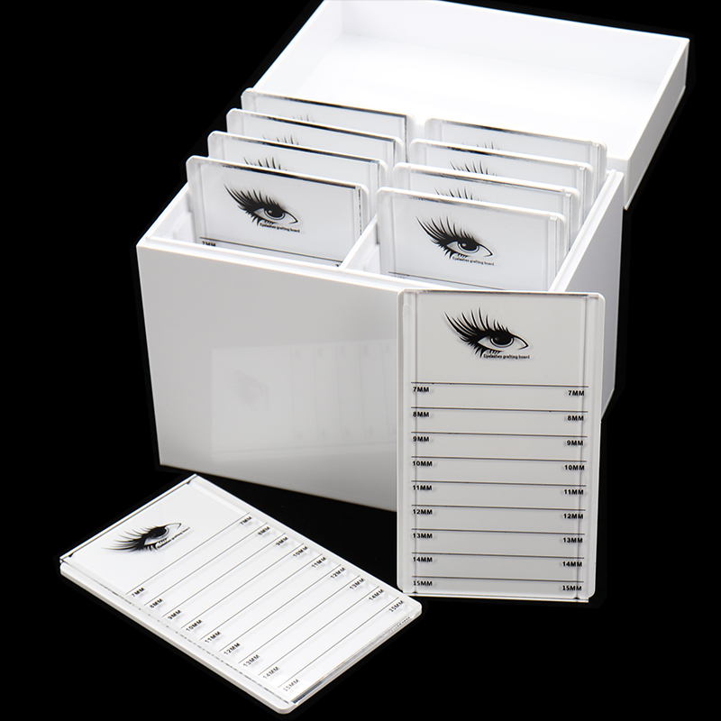 Eyelashes Glue Pallet Holder 10 Layers Clear Eyelash Storage Box Makeup Organizer False Grafting Eyelashes Extension Makeup Tool