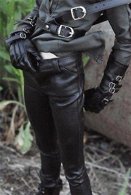 [Wamami] 77# черные штаны из искусственной кожи, штаны, наряд для 1/4 MSD 1/3 SD DZ SD17 70 см, BJD, кукла
