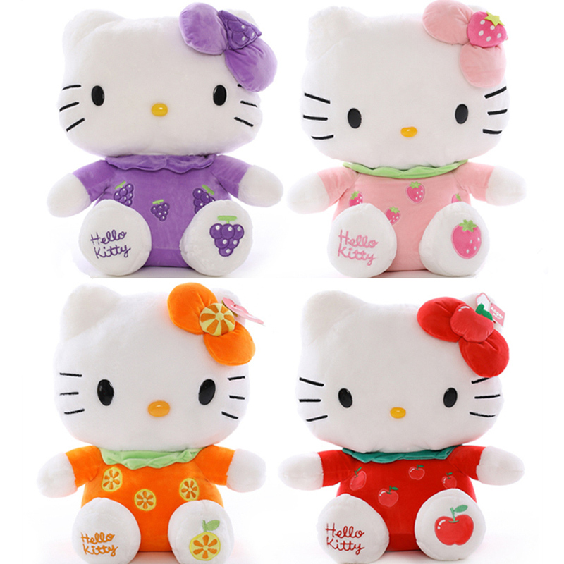 Fruit Hello kitty Cat Plush Toys Dolls 1pcs 8 20cm for children's gift home decoration free shipping lps pet shop toys rare black little cat blue eyes animal models patrulla canina action figures kids toys gift cat free shipping