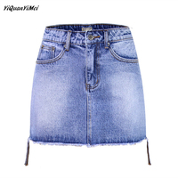 YiQuanYiMei Fashion denim skirts womens mini jeans skirt woman