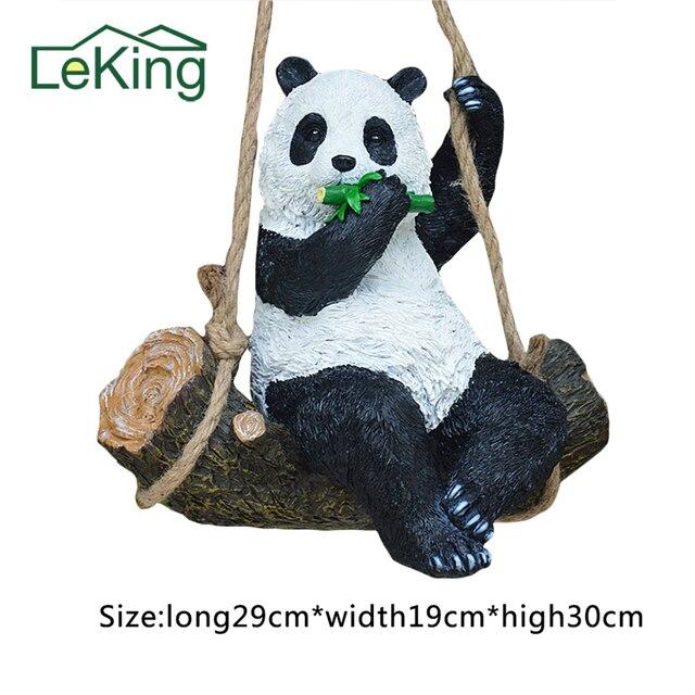 Resin Simulation Garden Swing Swinging Panda For House Garden School Party  Outdoor Indoor Chilrden Pet Park