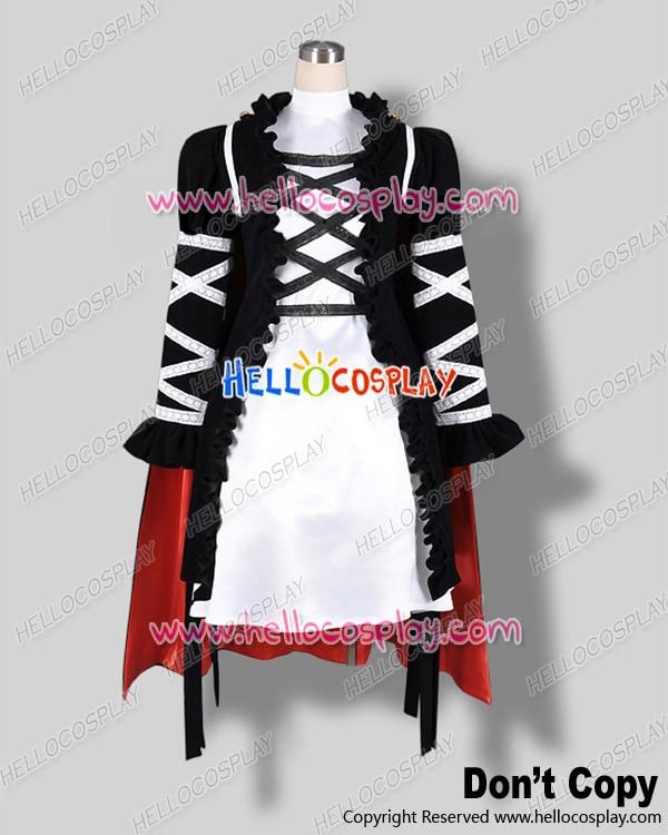 Touhou Project Cosplay Byakuren Hiziri Black White Dress Costume H008