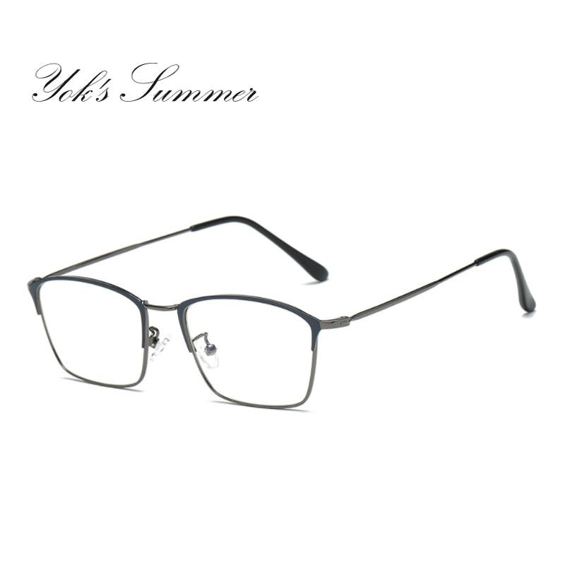 Yok летние Анти Blue Ray компьютерные очки Для женщин прямоугольник ретро металлические  ...