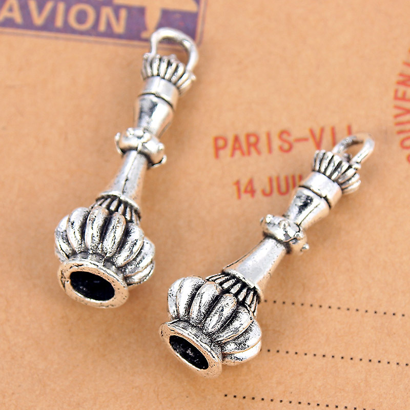 TJP 5pcs Lighthouse Magic Perfume Bottle Charms Pendants Antique Silver Tone for DIY Jewelry Making Findings 34x11mm in Charms from Jewelry Accessories