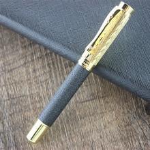 Шариковая ручка dika wen 8026, высокое качество, металлическая шариковая ручка с серебряным зажимом, офисные канцелярские принадлежности, роскошные шариковые ручки для письма, рекламный подарок