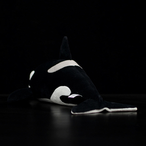 """Image 3 - 15"""" Lifelike Extra Soft Orca Plush Toy Killer Whale Stuffed Animal Toys For Kids Ocean Life Toy Birthday Gifts"""