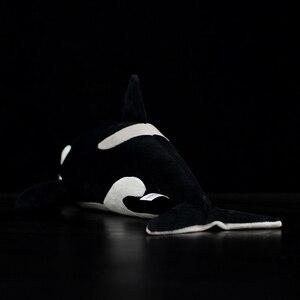 Image 3 - Juguete de peluche de 15 pulgadas con forma de ballena para niños, juguete de felpa con relleno de Animal