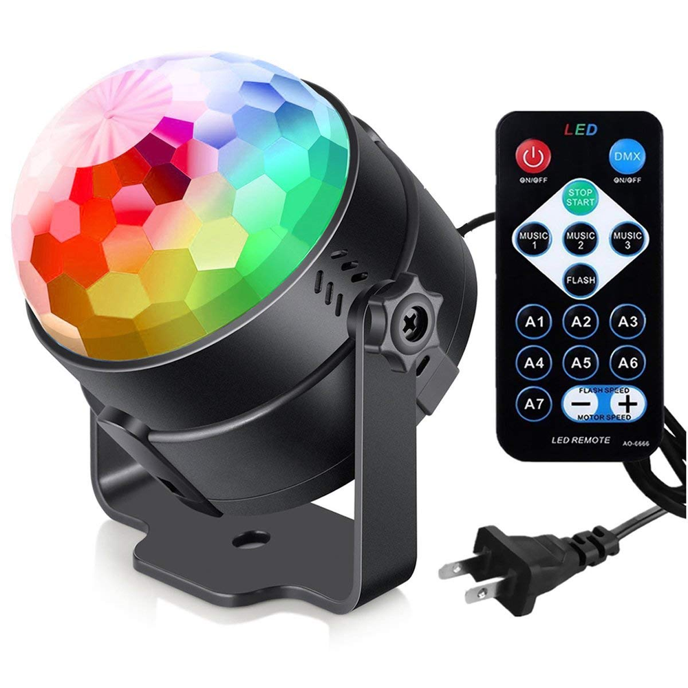 Firya Sound Activated Party Lights Remote Control DJ Lighting RGB Disco Ball Strobe Lamp 7 Modes Stage Dance Birthday Show Club