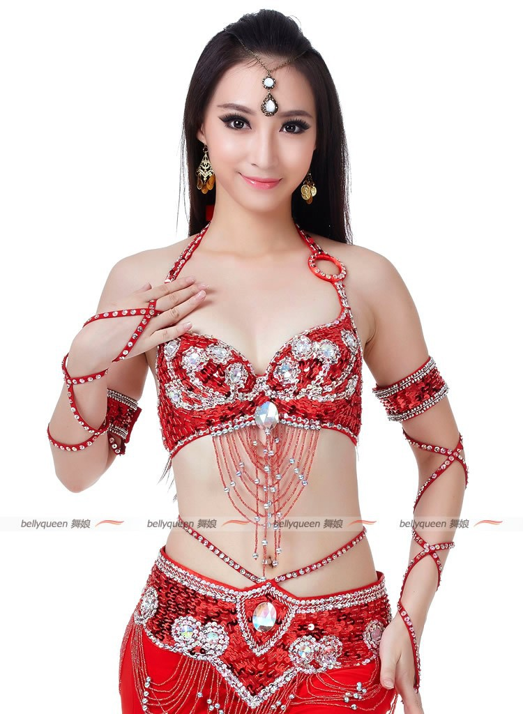 09081dd9f 2017 Hot Selling Belly Dancing Bra Belt Clothes Red Sexy Belly Dance ...
