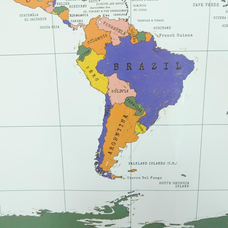 GLOBAL MAP SCRATCH OFF WALL STICKER