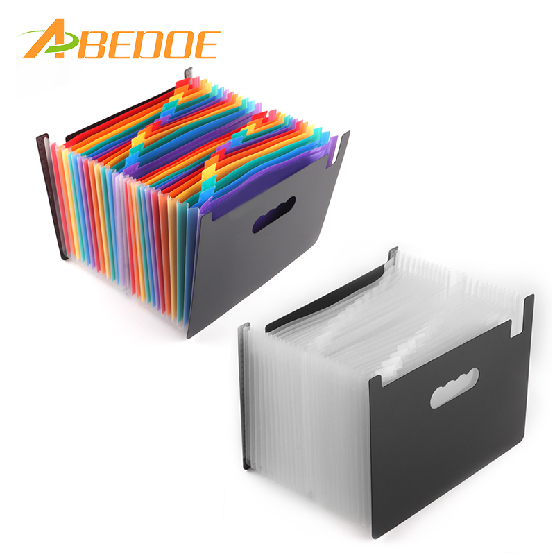 55e8ae78d69c US $12.69 36% OFF|ABEDOE 24 Pockets Expanding File Folder Portable  Accordion File Folder A4 Expandable Business File Organizer with Label  Classify-in ...