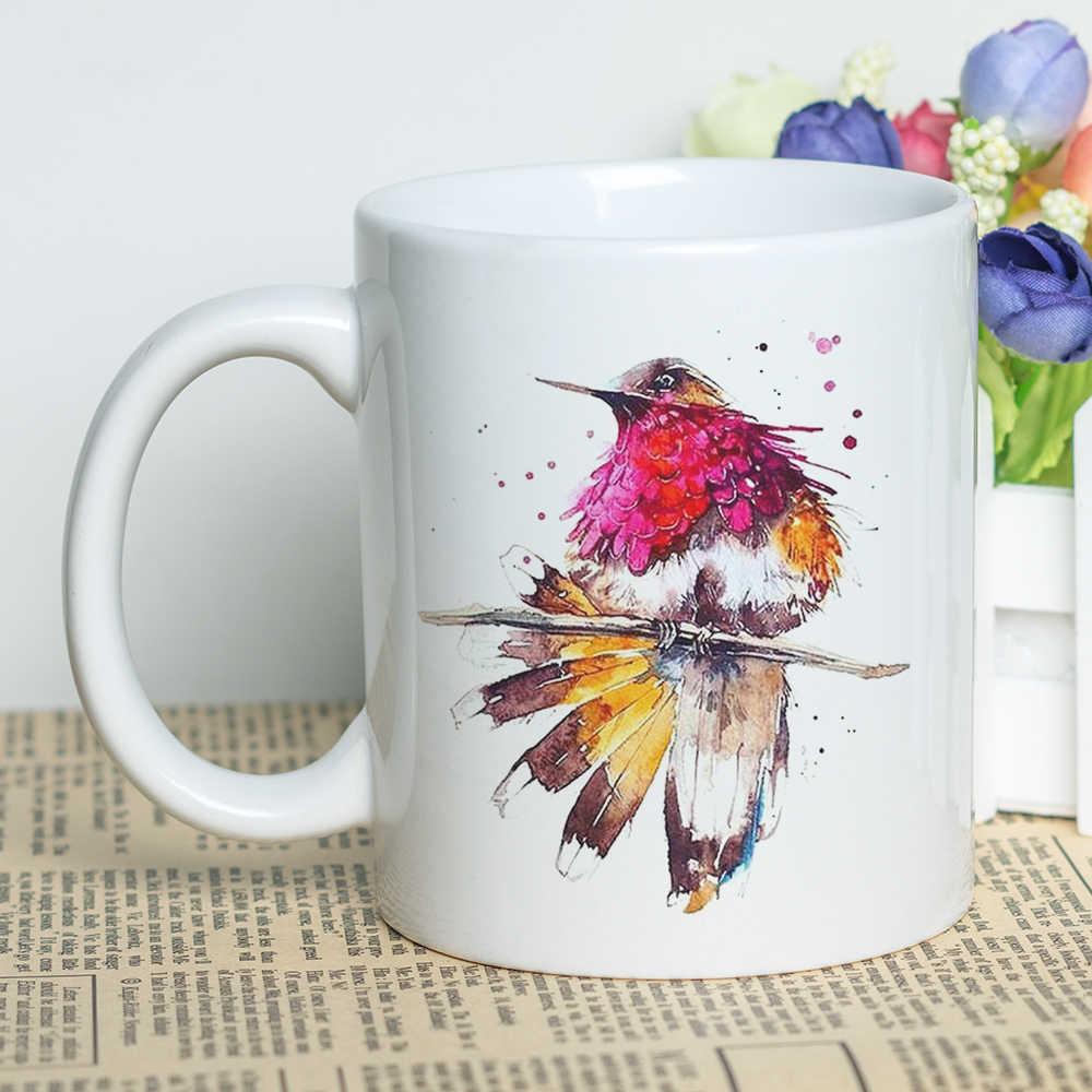 3e6891b12ed Wholesale Coffee Cup Set Unique Birds Themed Cool Design Ceramic Coffee Mug  11oz Sublimation Coated Cup Birds Print
