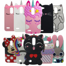 3D Cute Cartoon Stitch Cupcake Unicorn Soft Silicone Phone Case for LG K4 K7 K8 2017 LV3 ARISTO K8 2018 Q6 G6 Stylo 3 stylus 2(China)
