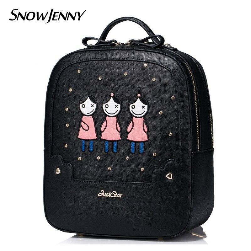 Women Backpack Preppy Style Schoolbag Travel Bag Totes Borsa SnowJenny SJ Brand Braccialini Design Women Backpack Preppy Style Schoolbag Travel Bag Totes Borsa SnowJenny SJ Brand Braccialini Design