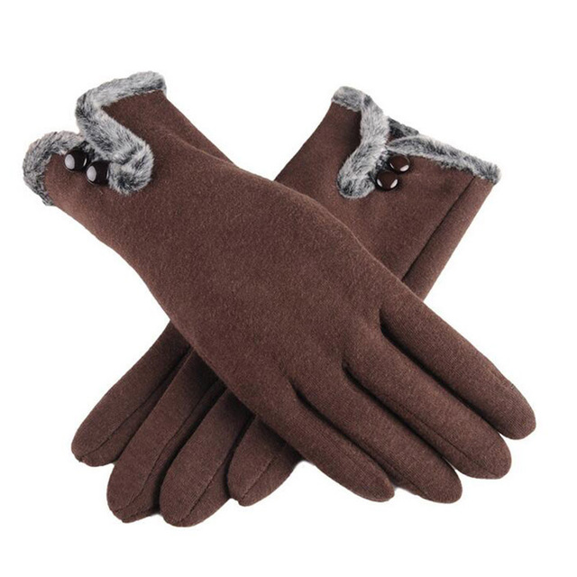 Fur Wool Mittens Gloves