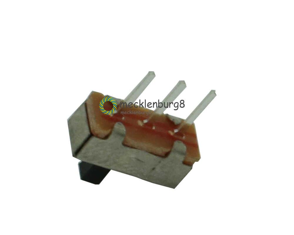 20 piezas SS12D00G3 interruptor deslizante de SS-12D00G3 2 posiciones SPDT 1P2T 3Pin PCB Panel Mini interruptores de palanca Vertical para DIY