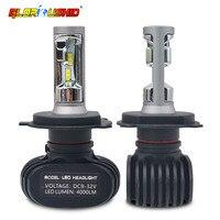 One Pair H11 H8 H9 H4 H1 Led H7 Car Headlight Bulb 50W 8000LM 6500K Auto