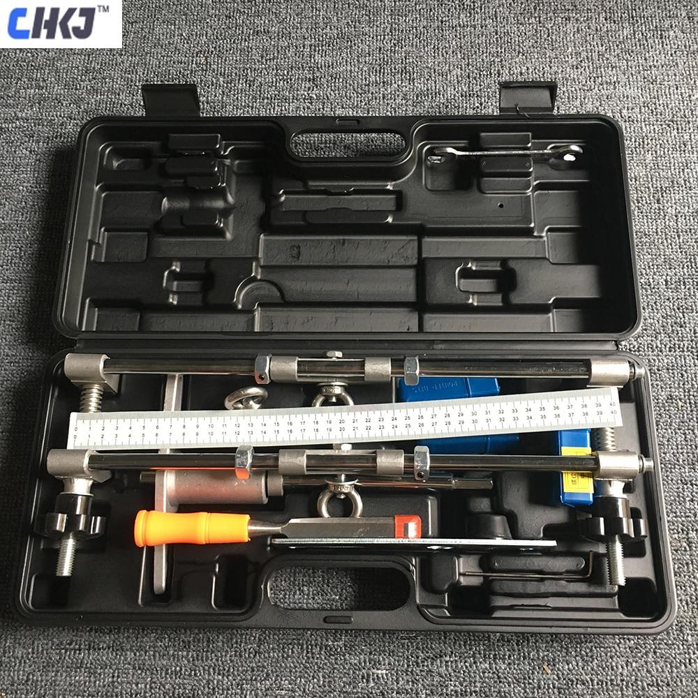 Chkj kit mortice fechadura da porta de segurança 3 cortadores mortiser encaixe jig mortice kit com chave ferramenta melhoria em casa