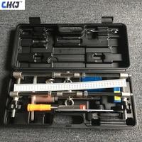 CHKJ Security Door Lock Mortice Kit 3 Cutters Door Lock Mortiser Fitting Jig Mortice Kit with Wrench Home Improvement Tool