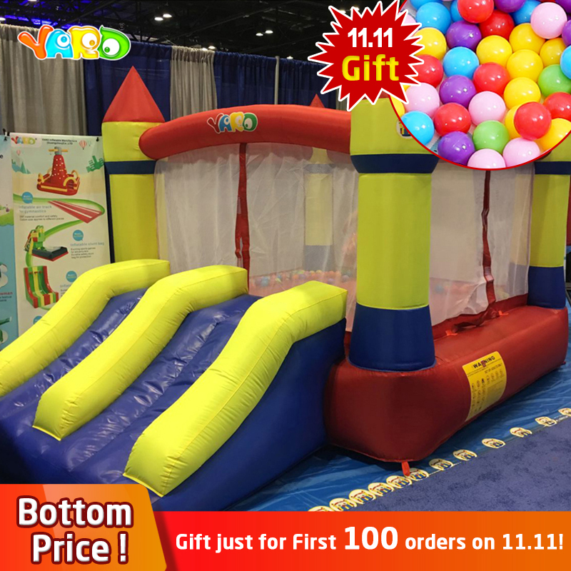 YARD Home Use Mini Inflatable Bouncer Castle Kids Outdoor Inflatable Games Bouncy House Ship By Express Door To Door Christmas yard home used inflatable bouncer inflatable bounce house bouncy castle with double slides for children outdoor and indoor games