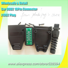 FINETRIP Wholesale Price colors optional 45pcs Fast Delivery Universal 16pin OBD II OBD2 male Plug J1962M Connector Adapter