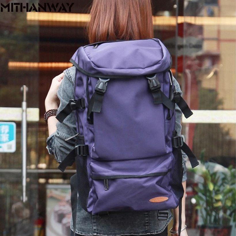 Large Capacity Women Men Outdoor Bags Climbing Hiking Camping Backpack Rucksacks Travel Sport Bag High Quality 8 Colors wissblue professional climbing backpack camping outdoor backpack cr carrying system hiking gear trekking travel sport backpack