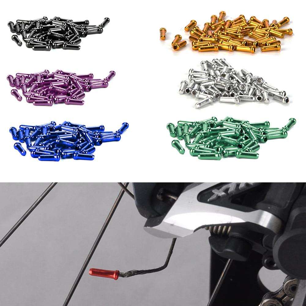 MUQGEW New Arrival 50pcs Aluminum Bike Bicycle Shifter Inner Cable Tips Wire End Cap Crimps Wholesale & Retail Gas Nozzle