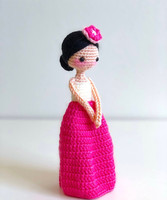 crochet toys amigurumi handmade DOLL girls rattles model number HH037