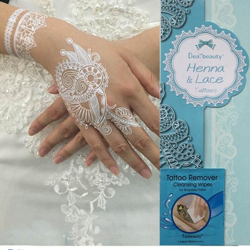 Us 139 27 Off4 Paczek Sztuczny Kwiat Wodoodporny Tatuaż Tymczasowy Biały Dla Kobiet Tatuaż Ozdoba Na Ciało Henna Wisiorek Choker Biżuteria