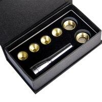 MUKU Trompet Accessoires 1-1/2C 7C 5C 3C Size Trompet Mondstuk Koper Goud 1 set Met doos muziekinstrument accessoires