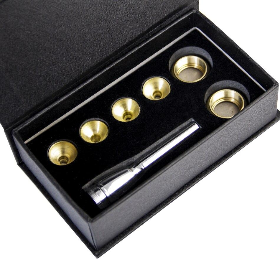 MUKU Trompete Zubehör 1-1 2C 7C 5C 3C Größe Trompete Mundstück Kupfer Gold 1 satz Mit box Musical instrument zubehör