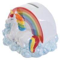 Money Box Rainbow Cloud Unicorn Colorful Unicorn Piggy Bank Unicorn Fund Ceramic Money Pot Coin Bank Gifts For Kids 50aa048