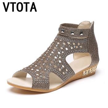 VTOTA Sandals Women Sandalia Feminina 2017 Casual Rome Summer Shoes Fashion Rivet Gladiator Sandals Women Sandalia Mujer B67 римские сандали