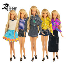 f08de959bf07e4 5 stuk/partij Pop Kleding New Fashion Wear Stel Stijlvolle Outfits Jurk  voor 11.5 ''barbie Doll Super Star Gratis verzending