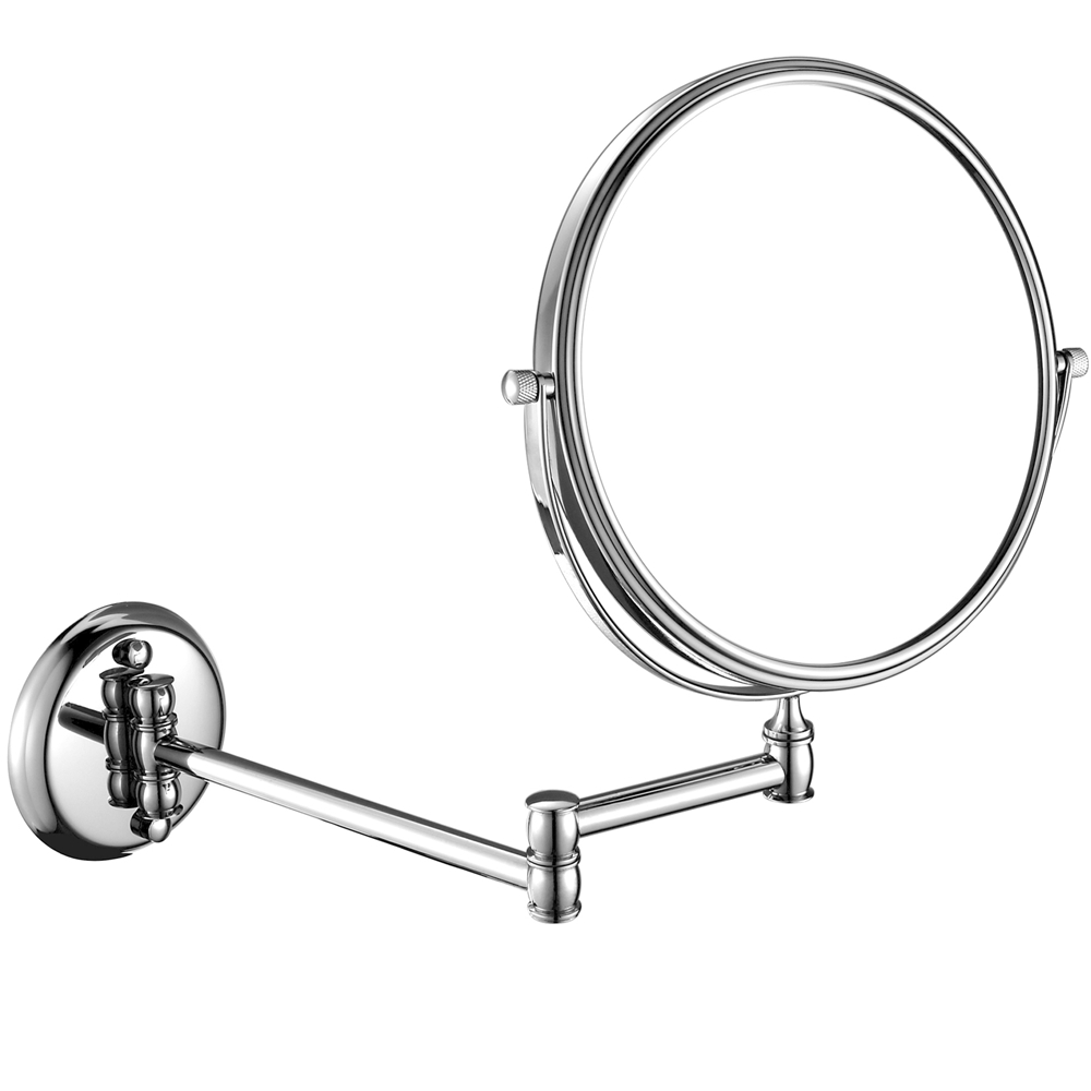 GuRun Wall Mount 10x/1x Magnification Makeup Mirror Chrome Dual Sided Swivel Rotated Extended Folding Mirrors Shaving/Makeup