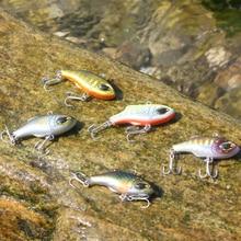 Super Quality 5 Colors 3.5cm 5.0g Hard Bait Vibes Fishing lures Bass Fresh Salt water 14# VMC hooks