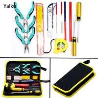 Yalku Eletrodomésticos Tool Set Kit Ferramenta de Combinação Chave De Fenda Conjunto de Ferramentas Ferramentas Manuais Set Combinação Faca Arquivo Alicate Chave De Fenda
