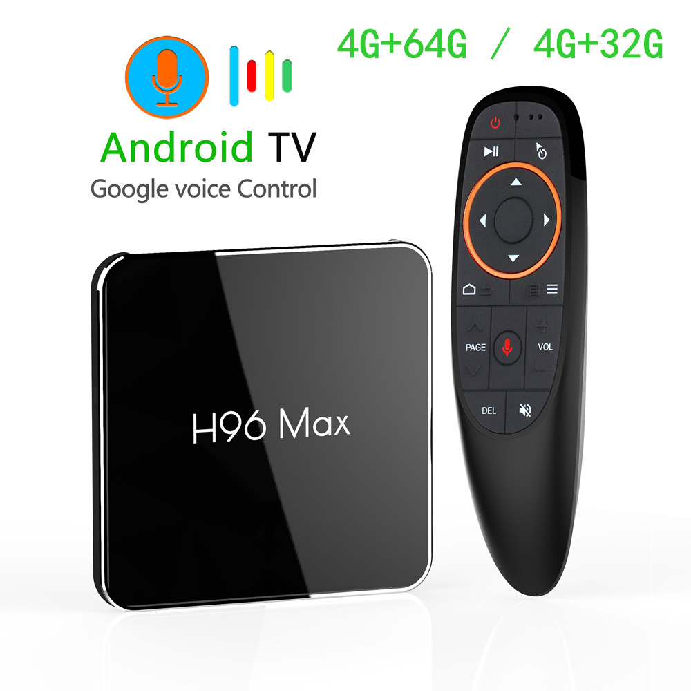 Android 8.1 Amlogic S905X2 Smart TV BOX LPDDR4 4GB 64GB 2.4GHz & 5GHz Wifi Bluetooth 4K 3D Set top box With Google Voice Control-in Set-top Boxes from Consumer Electronics