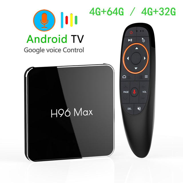 US $77 89 |Android 8 1 Amlogic S905X2 Smart TV BOX LPDDR4 4GB 64GB 2 4GHz &  5GHz Wifi Bluetooth 4K 3D Set top box With Google Voice Control-in Set-top