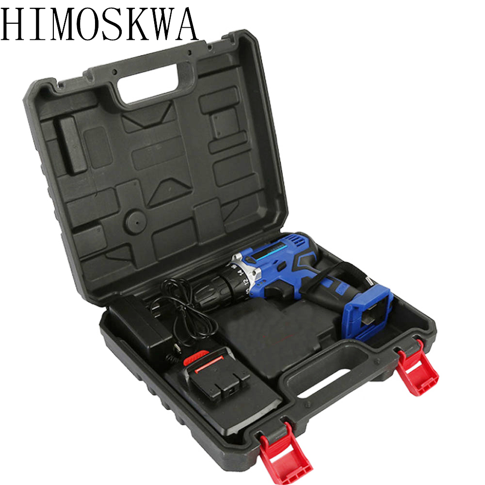 HIMOSKWA 25V Electric Drill Rechargeable Lithium Battery Electric Drill Multi-function Electric Screwdriver Handheld Power Tools цена