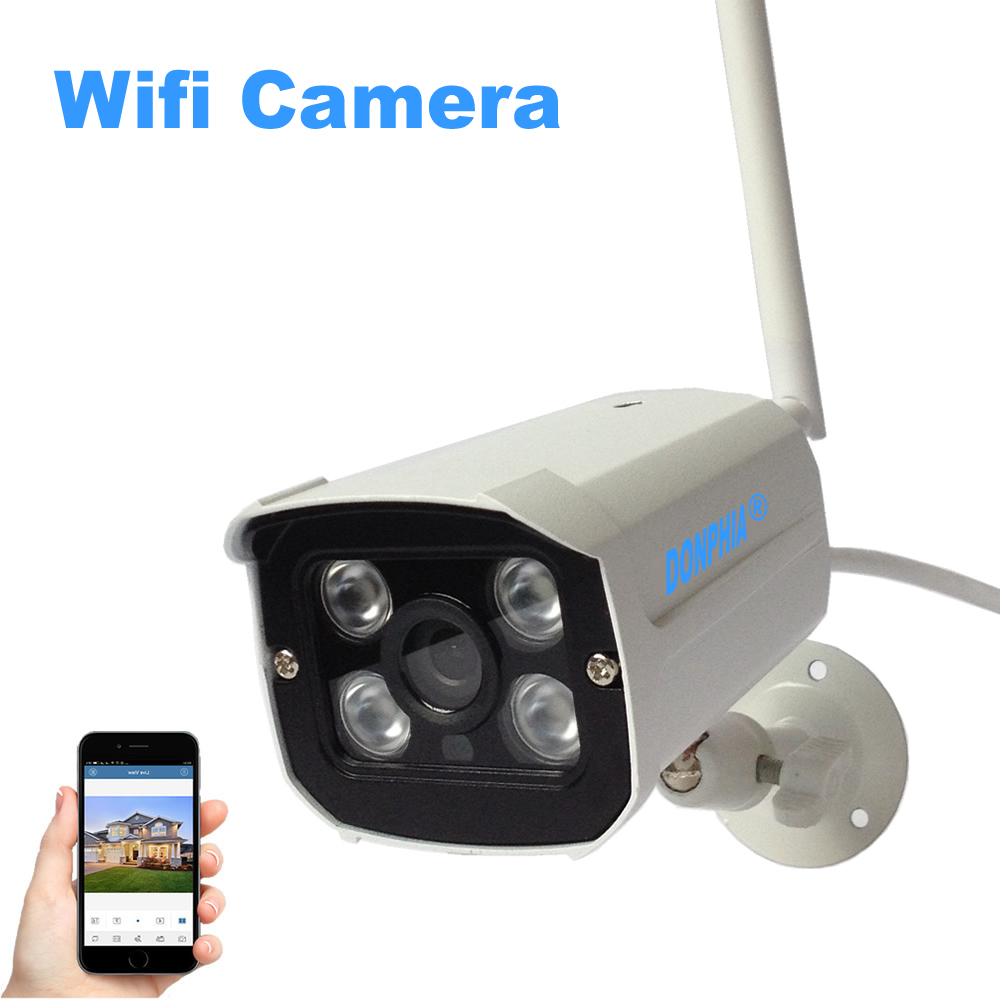 Wireless IP Camera Wifi 720P Surveillance Security Camera 1MP Waterproof IR Night Vision CCTV Camera 4 Array IR LEDs P2P outdoor 720p ip camera hd wireless wifi array ir night vision bullet onvif waterproof cctv security ip 1mp network web camera