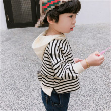 Stripe Hoodies Sweatshirts kids clothes girls boys pullover children tops 1-6Y