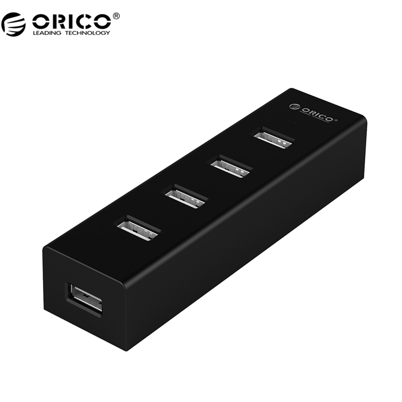 ORICO H4013-U2 High Speed USB 2.0 HUB 4 Ports USB Portable with 30CM Data Cable & Power Adapter Port- Black/Gray/Blue/Red