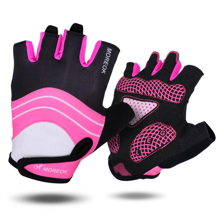 2017 Cycling Half Finger Gloves Man Women Pink Mtb Bike -1637