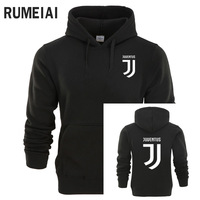 RUMEIAI Juventus Print Hoodies Men 2017 Autumn Winter Men Women Fleece Long Sleeve Sportswear Pullover Hooded